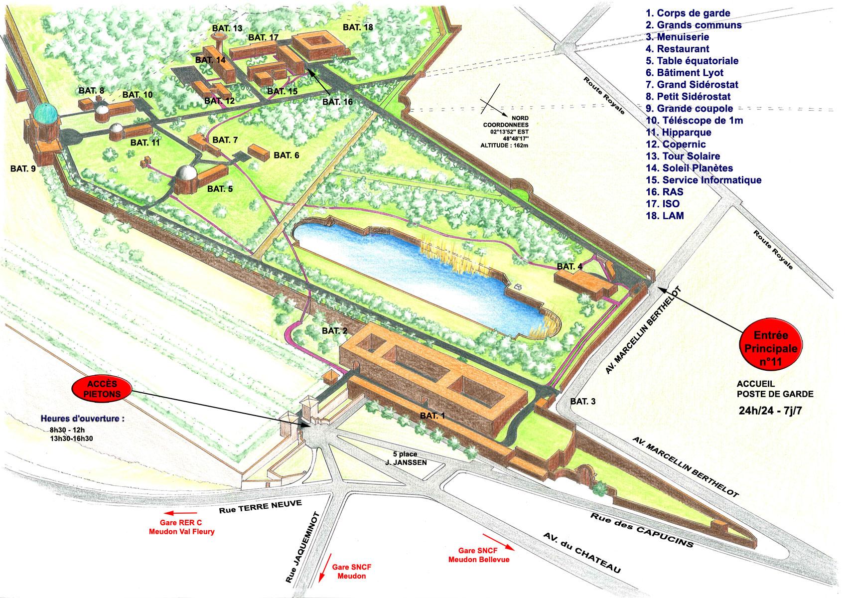plan du site de Meudon